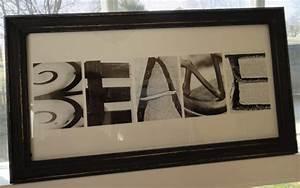 frames letter art stuff i39ve made pinterest With letter art frames