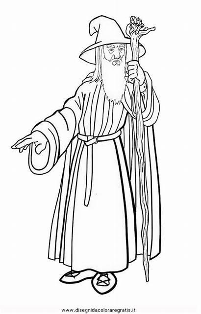 Gandalf Hobbit Coloring Malvorlagen Ausmalbilder Ringe Herr