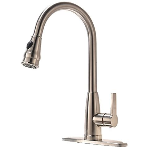 industrial kitchen faucets stainless steel hotis commercial brushed nickel touch on kitchen sink