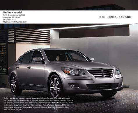 Hyundai Matthews Nc by 2010 Keffer Hyundai Genesis Nc