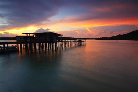 pier  sea  sky  sunset  stock photo