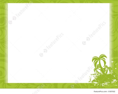 templates palm tree  corner frame wallpaper stock