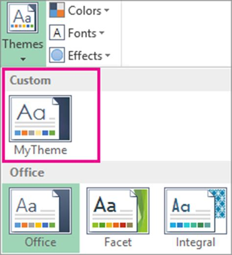 default new document drive template change a theme and make it the default in word or excel