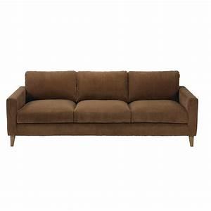 Sofa 4 Sitzer : 4 sitzer sofa mit bezug aus braunem rippsamt holden maisons du monde ~ Eleganceandgraceweddings.com Haus und Dekorationen