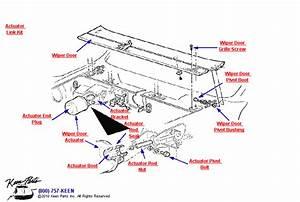 1953-2019 Corvette Wiper Door  U0026 Actuator Parts