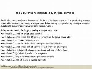 cover letter for purchasing manager - top 5 purchasing manager cover letter samples