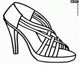 Coloring Colorir Zapatos Colorare Mujer Kleurplaat Colorear Salto Dibujos Sandalia Hakken Heels Alto Desenhos Pintar Sapatos Scarpe Imprimir Hoge Talon sketch template