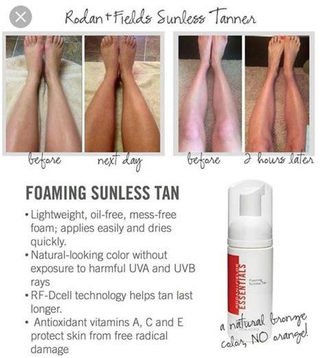 ready  give  pasty skin  gorgeous glow  rodan fields foaming sunless tanner
