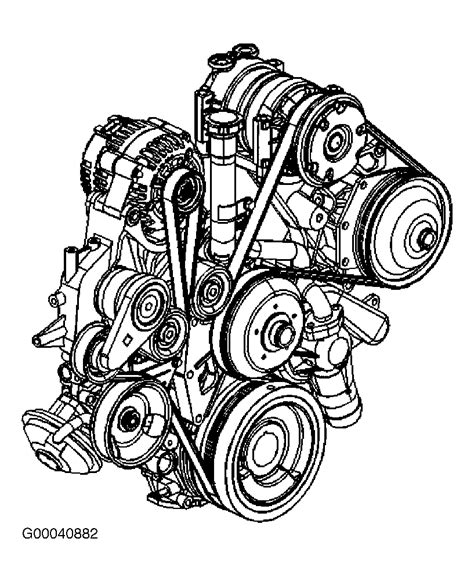 Chevrolet Silverado Serpentine Belt Routing