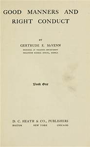 Good manners and right conduct (1919 edition) | Open Library