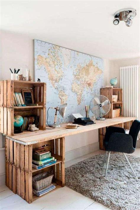 bureau palette meuble en palette 34 idées fraîches de diy déco naturelle