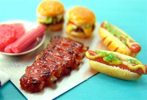cuisine miniature dollhouse miniature bbq foods for summer the mouse market