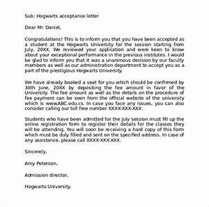 Sample hogwarts acceptance letter 8 download documents for Personalized hogwarts acceptance letter template