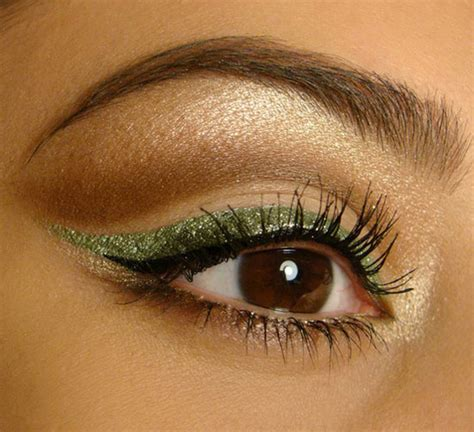 green eyeliner style ideas  designs