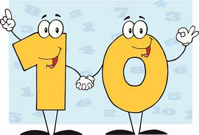 Number Clip Clipart Ten Cartoon Background Numbers