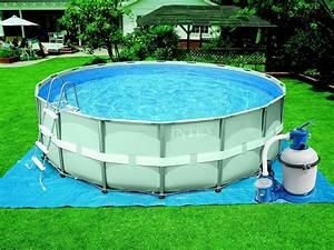 Piscine Tubulaire Hors Sol : piscine tubulaire ronde ultra frame x 16466 ~ Melissatoandfro.com Idées de Décoration