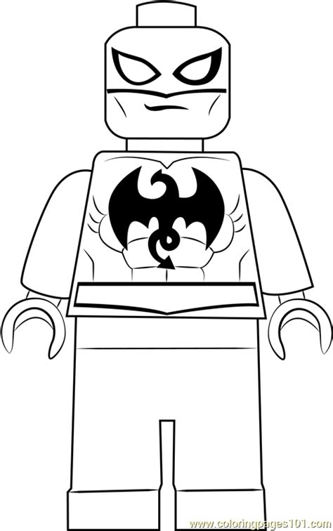 lego iron fist coloring page  lego coloring pages