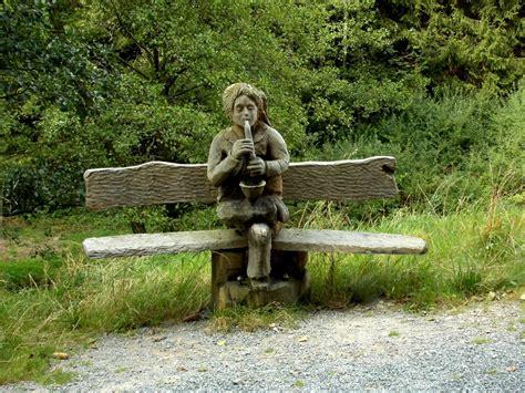 kostenlose foto baum natur holz bank sitz statue