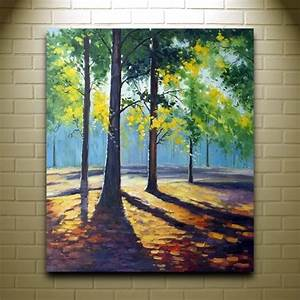 Easy Acrylic Canvas Painting Landscape Canvas Painting ...