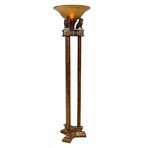 Lions torchiere floor lamp el dorado furniture for Torchiere floor lamp with lions