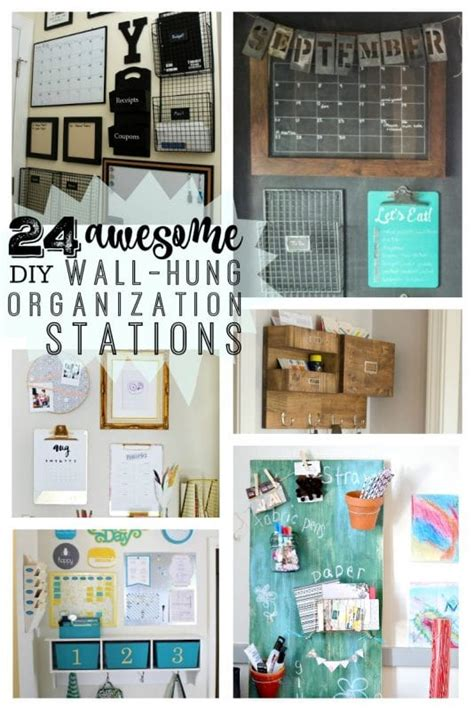 remodelaholic  awesome diy wall organization stations