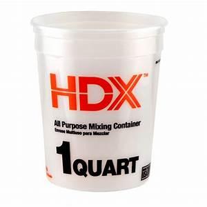 HDX 1 qt. Natural Multi-Mix Container (3-Pack)-210215 ...  Quart