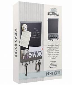 vintage magnetic memo board key hooks letter holder broadoak With memo board with letters
