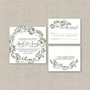 wedding invitation suite deposit diy rustic woodland With free printable woodland wedding invitations