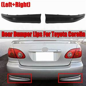 2pcs Car Rear Bumper Corolla Lip Diffuser For Toyota