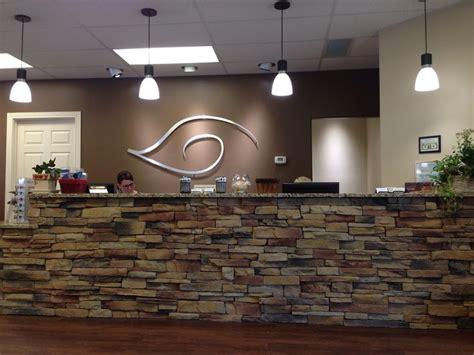 stone  reception desk veterinary pinterest