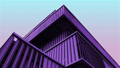 4k Architecture Building Purple Metal Structure Wallpapers