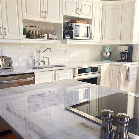 countertops  finally  white shadow storm