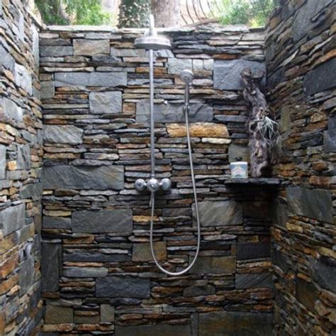slate tile  shower walls  interior design