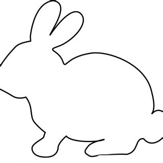 easter bunny silhouette printable festival collections