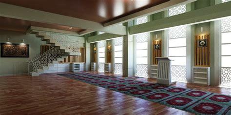 desain interior masjid  makassar posisinya  unik