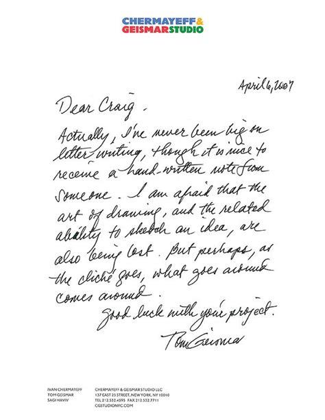 tom geismar graphic design misc handwritten letters