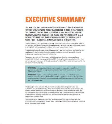 tourism marketing plan template   word excel