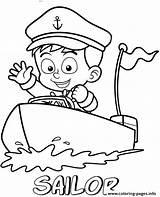 Coloring Sailor Professions Printable Um Angry Birds Colorir Desenho Barco Marinheiro Pequeno Boat sketch template