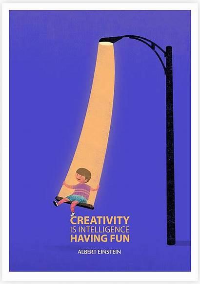 Creativity Intelligence Fun Having Poster Creative Motivational