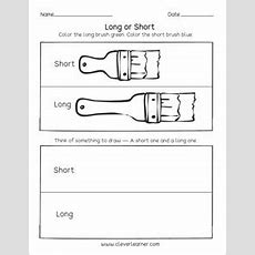 Free Printable Worksheets On Measuring Length, Long And Short
