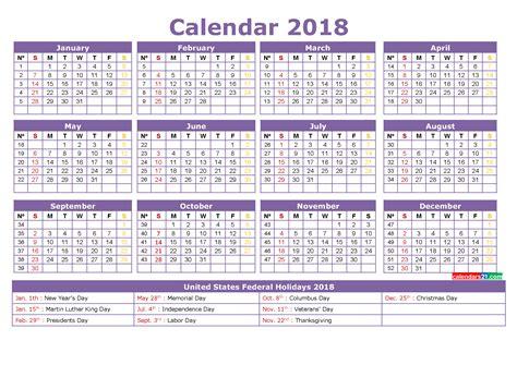 printable calendar holidays full year templates