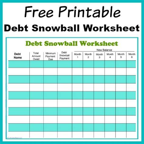 Free Printable Debt Snowball Worksheet Pay Down Your Debt