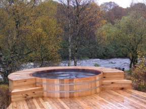 HD wallpapers wood jacuzzi