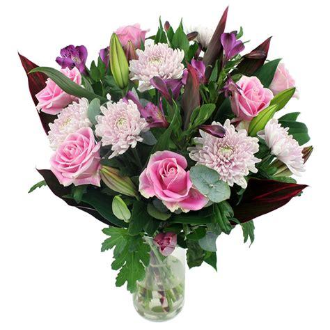 stem candyfloss mixed flower bouquet costco uk