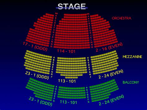 lyceum theatre   broadway seating chart theatre history broadway scene