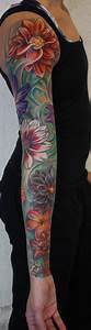 color flower sleeve tattoo Tattoos tatuajes | Spanish ...