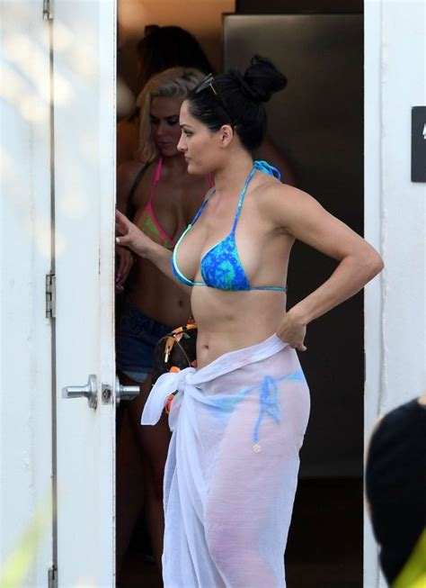 nikki bella  blue bikini   gotceleb