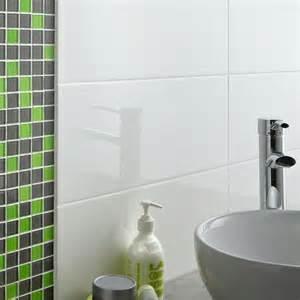 Carrelage Blanc Brillant by Carrelage Mural Loft Blanc Brillant Et Mosa 239 Que Vert