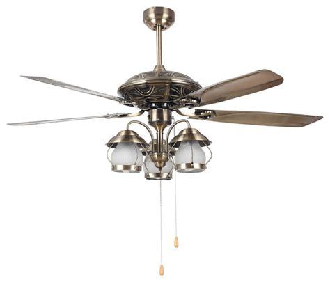 living room vintage bronze ceiling fan light 52 quot modern