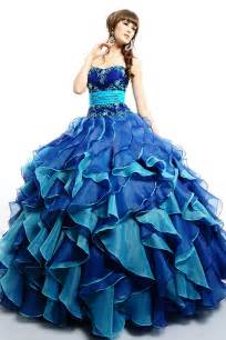 AQB067 Fashion Royal Blue And Turquoise Organza Ball Gown Quinceanera Dresses custom made